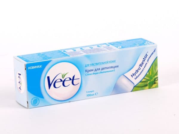 Средства для депиляции Veet: крем-депилятор для интимной области бикини, полоски для эпиляции, отзывы