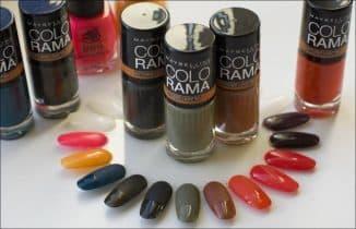 Колорама лак для ногтей палитра
