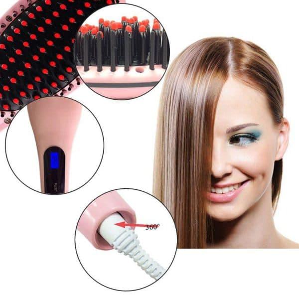 Расческа для выпрямления волос fast hair straightener