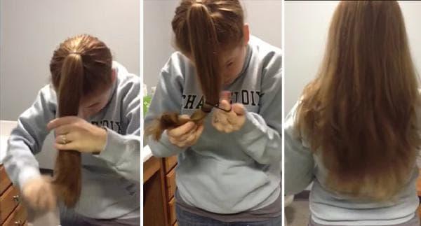 Как подстричь кончики волос самостоятельно.