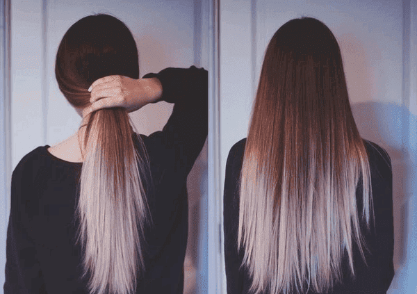 Оттенки для кончиков темных волос