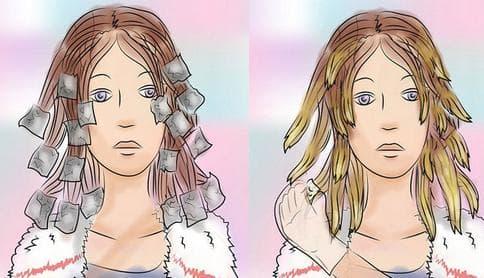 Технология окрашивания кончиков волос