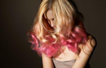 Покраска кончиков на русые волосы