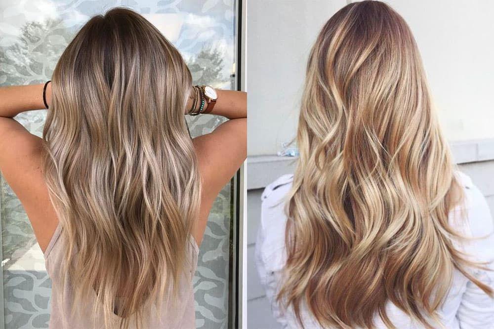 Мелирование на русые волосы омбре