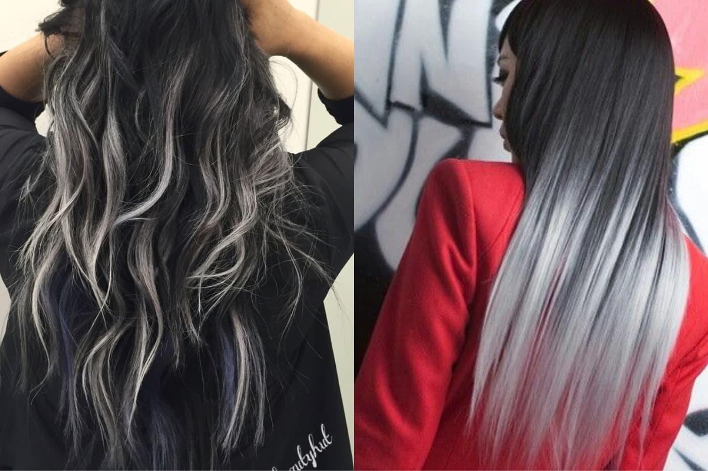 Омбре на черный цвет волос