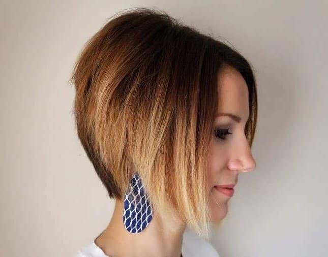 Окрашивание омбре на короткие волосы — фото до и после, техника, цена