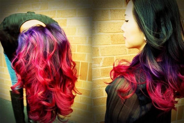 Фиолетовый цвет волос: обзор 6 модных оттенков с фото