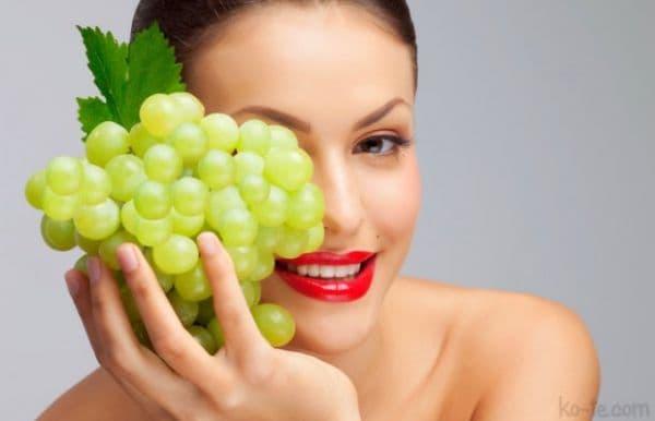 Маска для лица из черного винограда