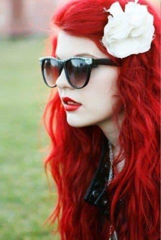Стойкая красная краска для волос