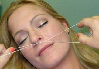Эпиляция ниткой как делать