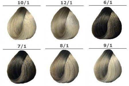Пепельные оттенки красок для волос