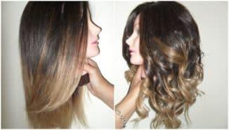 Окрашивание шатуш на темные волосы
