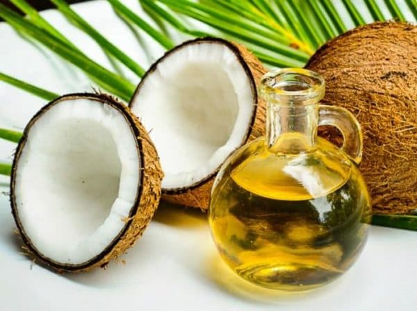 Оливковое масло для загара с кокосовым.