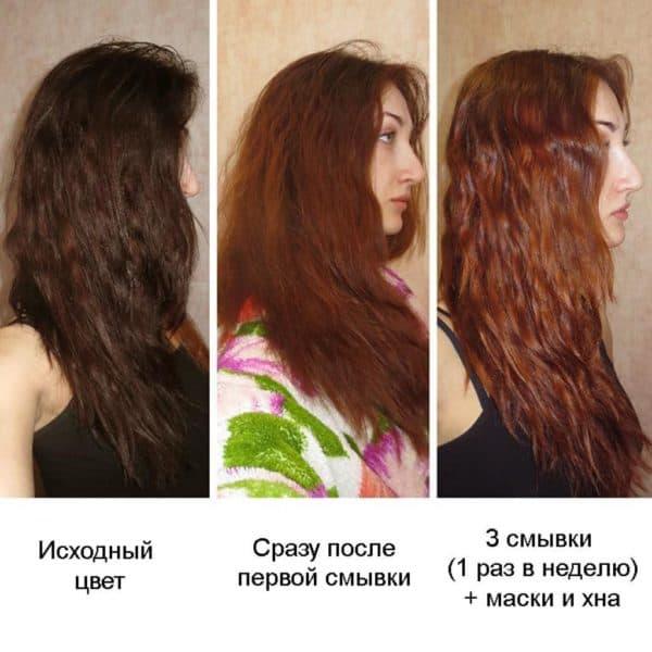 Как восстановить волосы после смывки