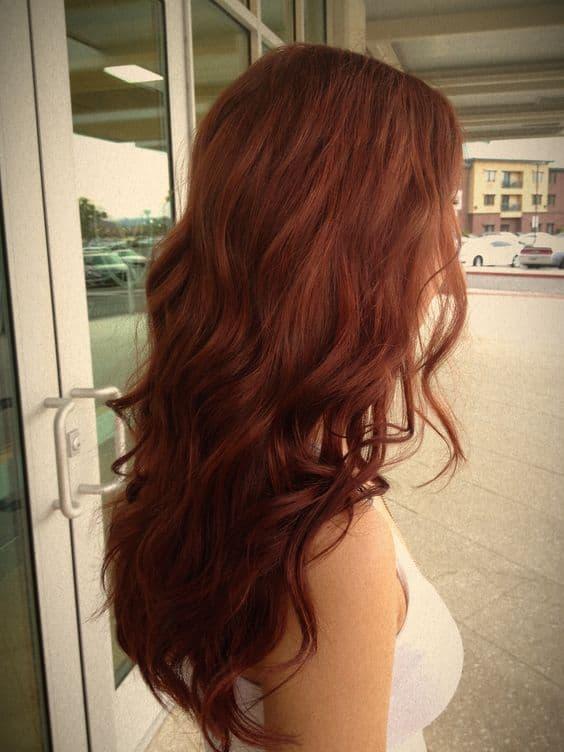 Окрашивание обратное омбре для рыжих волос